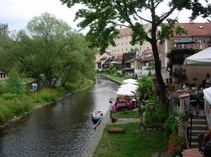 Cafe along the Vltava in Cesky Krumlov