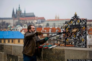 Authorities Remove Love Padlocks From Charles Bridge